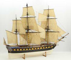 Ship model 18th century French 40 gun frigate / Saved by Stephen Lok ~START~