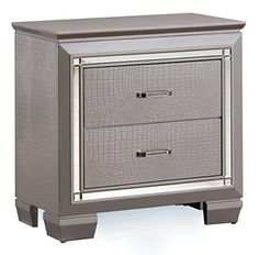 HOMES: Inside + Out IDF-7979SV-N Mena Nightstand Contemporary