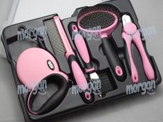 Dog Grooming Set Dog Nail Clipper Dematting Comb Wire Pin Comb 5 in One Set Pink   eBay