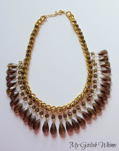 DIY Wire Wrapped Chain Statement Necklace