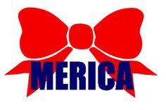 3 x 5 Bow Vinyl Decal with Merica for Car Laptop by KitsCrafts