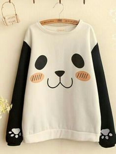 Panda Print Pullover omg let me have this cute thing Kawaii Fashion, Cute Fashion, Fashion Outfits, Meme Costume, Japanese Fashion, Asian Fashion, Mode Alternative, Mode Kawaii, Cooler Look