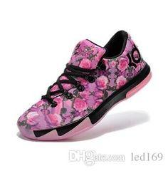 best website 587dd 4f39e 2015 New Kd 6 Aunt Pearl Black Pink Rose Flower Kevin Durant Vi Supreme  Floral Men Basketball Shoes Size 7 12 Kd Basketball Shoes Shoes On Sale  From Led169, ...