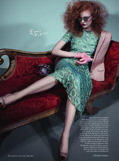 Anniek Kortleve by Catherine Servel for UK Harpers Bazaar May 2013