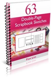 63 Double-Pages Scrapbook Sketches