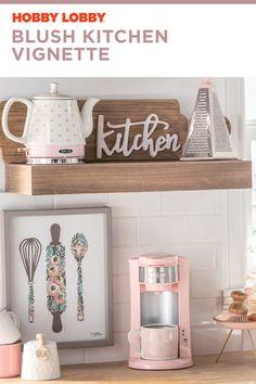 Kitchen decor so sweet it'll make you blush. 🥰 Spring Kitchen Decor, Diy Kitchen Decor, Kitchen Signs, Home Decor, Bella Kitchen, Painted China Cabinets, Kitchen Vignettes, Woman Cave, Home Organization