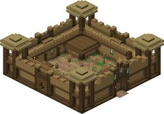 Rohan Fortress - Minecraft World Casa Medieval Minecraft, Easy Minecraft Houses, Minecraft Houses Blueprints, Minecraft Plans, Minecraft House Designs, Minecraft Survival, Amazing Minecraft, Minecraft Creations, Minecraft Crafts