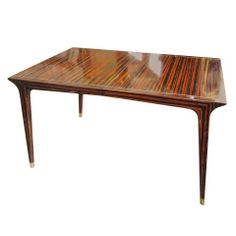 Exquisite Faux-painted Mid-Century Modern Dining Table