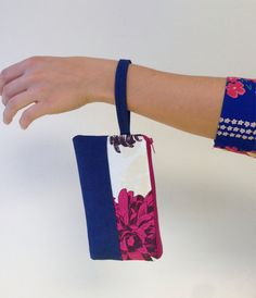 Colorblocked wristlets by FloatingChairs on Etsy, $18.00