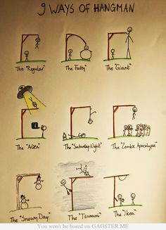 Nine Ways of Hangman