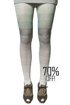 Kronkron Color Block Tights Green And Grey 2017 Catalog Pantyhose Fashion, Fashion Tights, Cool Tights, Pantyhose Lovers, Leggings, Green And Grey, Stylish, Color, Shopping