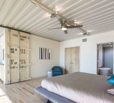 Sliding shipping container door