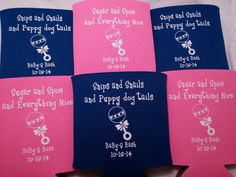 Baby Shower favors koozies design by odysseycustomdesigns on Etsy