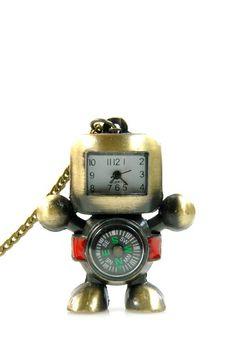 Vintage Robo Pocket Watch Necklace by Eye Candy Los Angeles on @HauteLook