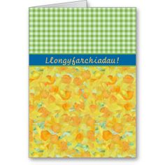 Llongyfarchiadau welsh for congratulations greetings card 250 custom daffodils check gingham congratulations card m4hsunfo Images