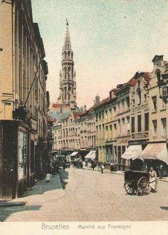 """""""rue des Pitas"""", ex-Marché aux Fromage, Mon vieux Bruxelles"""
