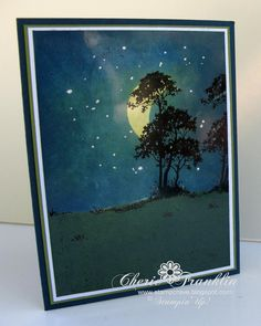 Using Serene Silhouettes, my Brayer and some bleach I created a few scene cards. I used a toothpick to dot the bl. Cute Cards, Diy Cards, Sympathy Cards, Greeting Cards, Serene Silhouettes, Scrapbooking, Copics, Masculine Cards, Card Tags