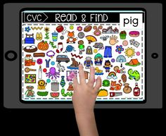 Free online digital task cards on Boom Learning that play like a game for practicing CVC words. Students read the target word on each page, then find the picture! Boom Learning Boom Cards