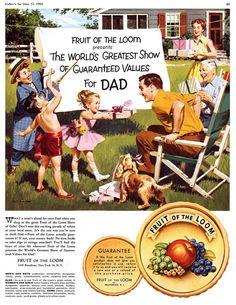 Arthur Sarnoff illustration - Fruit of the Loom - June 1954 Collier's