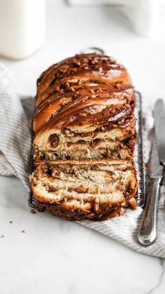 Pecan Pie Babka This babka recipe is filled with pecans, brown sugar, and cinnamon. It's the perfect Thanksgiving dessert recipe that everyone will love! Thanksgiving Desserts, Holiday Desserts, Thanksgiving Games, Holiday Parties, Pie Recipes, Baking Recipes, Pecan Recipes, Baking Desserts, Pumpkin Recipes