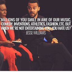 And this is the racism we don't see.the subconscious belief that black people… Jesse Williams, By Any Means Necessary, Black History Facts, Black Pride, My Black Is Beautiful, Truth Hurts, Before Us, African American History, Black Power