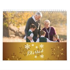 Personalized Calendar Gold Blessed