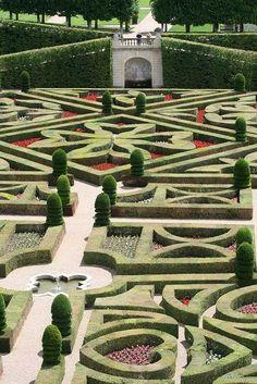 Gardens of the Château de Villandry, Loire Valley, France