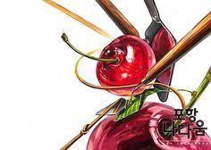 🍒 #디자인 #입시미술 #미술 #기초디자인 #art #design #미대입시 #그림 #illust #f4f #follow #포항 #나다움 #미술학원#기디#포항나다움#watercolor#시험작#포항미술#포항입시#미대입시생#수채화#일상#포항 #고등학생 Illusions, Fruit, Painting, Food, Design, Xmas, Painting Art, Essen, Eten