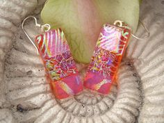 Dichroic Glass Earrings  Dichroic Fused Glass Jewelry by ccvalenzo, $20.00
