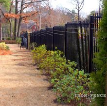 Wrought Iron Fence Stair Stepped Down A Slope 4ft Tall Classic Style In Traditional Grade