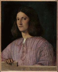 Giorgione, Portrait of a Young Man,('Giustiniani Portrait'); oil on canvas, 57.5 x 45.5 cm. Gemäldegalerie, Staatliche Museen zu Berlin, Preußischer Kulturbesitz Photo © Jörg P. Anders.