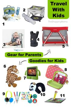 Travel with Kids: gear for parents and goodies for kids