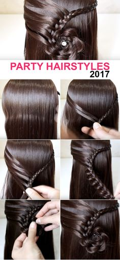 Young Girl Party Long Hairstyles 2017 #hairstyle  #hairstyles  #hairstyle2017 #ladieshairstyle #womenhairstyle #weddinghairstyles @hairstyles #longhairstyle #younggirlhairstyle #flowerstylehair