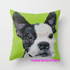 #holiday #gift Custom pet pillow from photo (bright colors not included in photo pillow) by PopArtPetPortraits, $37.00