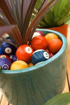 Billiard ball mulch! great idea!
