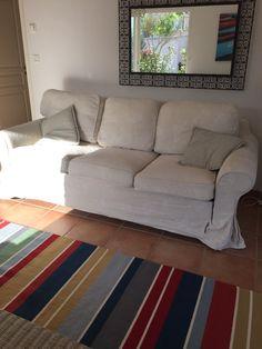 Stua vår, med teppe fra Ikea