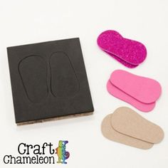 """Do you create shoes for 18"""" dolls? This is the die for you! Run it through your crafting die cutting machine to create doll shoe soles just like that!Our sole d"""