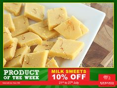 Here is the product of the week.... Soft, tasty, melt-in-the-mouth Milk Sweets at KR BAKES since 1969  Avail a 10% Off between 21st- 27th July...  www.krbakes.com   customercare@krbakes.com   097888 00056  #KRBakes #KRBakesSince1969 #BakedWithLove #Snacks #Sweets #Restaurant #MilkSweets