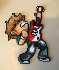 Bildresultat för guitar hama beads