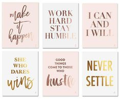 inspiring and motivating wall art pieces wall decor ideas 7 Work Office Decorating Ideas To Inspire Creativity & Productivity – Glossy Belle Work Desk Decor, Pink Office Decor, Office Organization At Work, Office Wall Decor, Office Walls, Office Art, Office Ideas For Work Business Decor, Pink Gold Office, Creative Office Decor