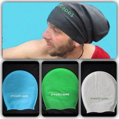 If you have long dreads, these caps are great! On Sale 2 X Dreadlock swimming cap Dread swim cap by Dreadscapes, $40.00