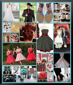 Charming Rockabilly Red U0026 Black Wedding ... Wedding Ideas For Brides U0026 Bridesmaids,  Grooms