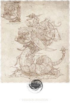 Veilleur Ophidien (print) by FireIndustries