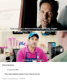 """Too real... #antman<-- That and """"I think are first move... should be to call the Avengers."""""""