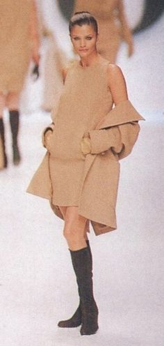 Christian DIOR by Gianfranco Ferre Fall Winter 1996 1997 Paris - Helena Christensen