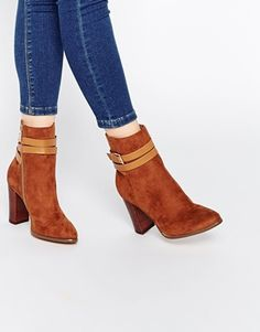 Pimkie Strap Detail Block Heeled Boot
