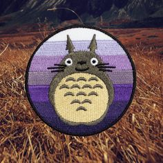 """To-to-ro? You're Totoro!... I bet you're Totoro!"" -Mei Kusakabe Aw, the cutest. Totoro! Patch by For The Love Of Patch. 2.75"" wide. Sew-on."