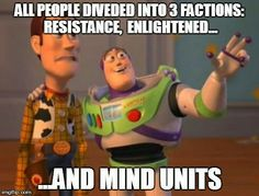 Forget muggles and wizards, #Ingress has a new equation.  #resistance #enlightened #MU