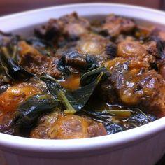 Braised Oxtail & Collard Greens Stew