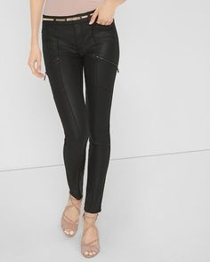 White House   Black Market Coated Skinny Jeans - these look super cute